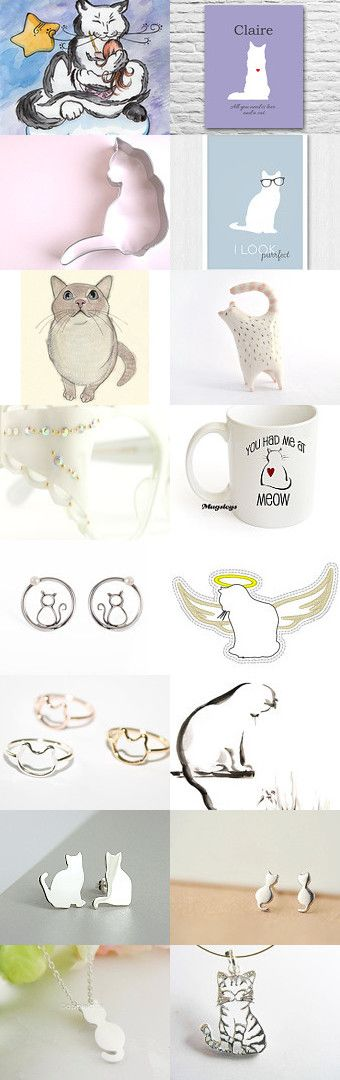 I would be your white kitty by Anna Titova on Etsy--Pinned with TreasuryPin.com