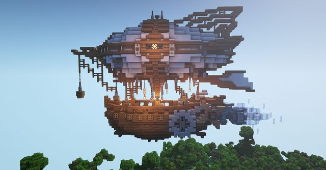 Steampunk airship. - Minecraftbuilds in 2020 (With images ...