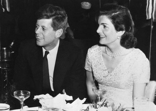 John F. Kennedy and his wife, Jackie, at his 39th birthday party at the Stork Club, photograph from the private collection of the Billinsgley family, courtesy of Shermane Billingsley.