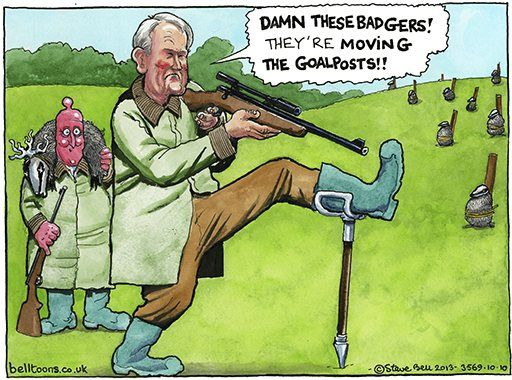 """10 October 2013 - Patterson - """"the badgers moved the goalposts."""""""