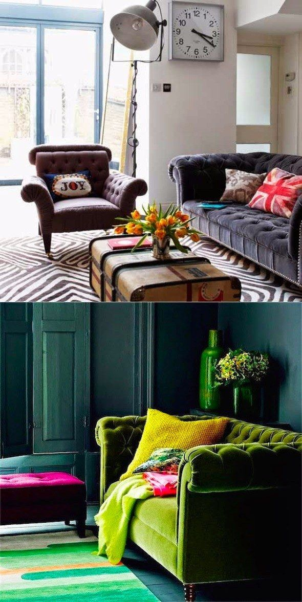 El sofá chester: un clásico diseño inglés / Espacios diseñados para lectores / http://www.chicanddeco.com/