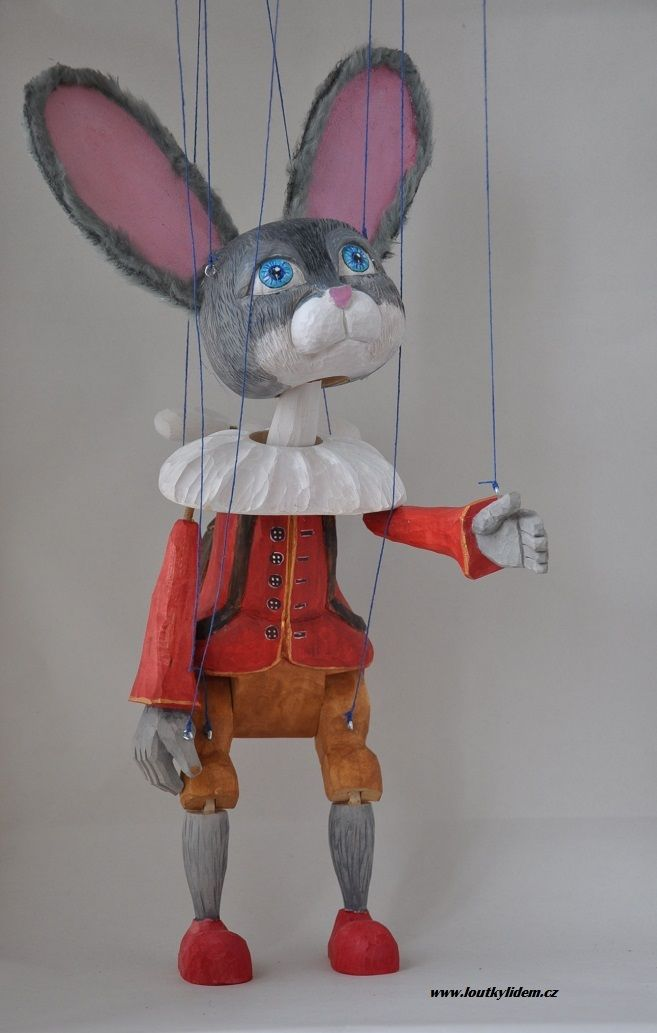 rabbit figure marionette doll