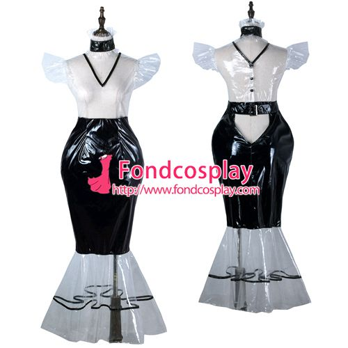 Sissy maid Clear PVC dress lockable Uniform cosplay costume Tailor-made[G2247]