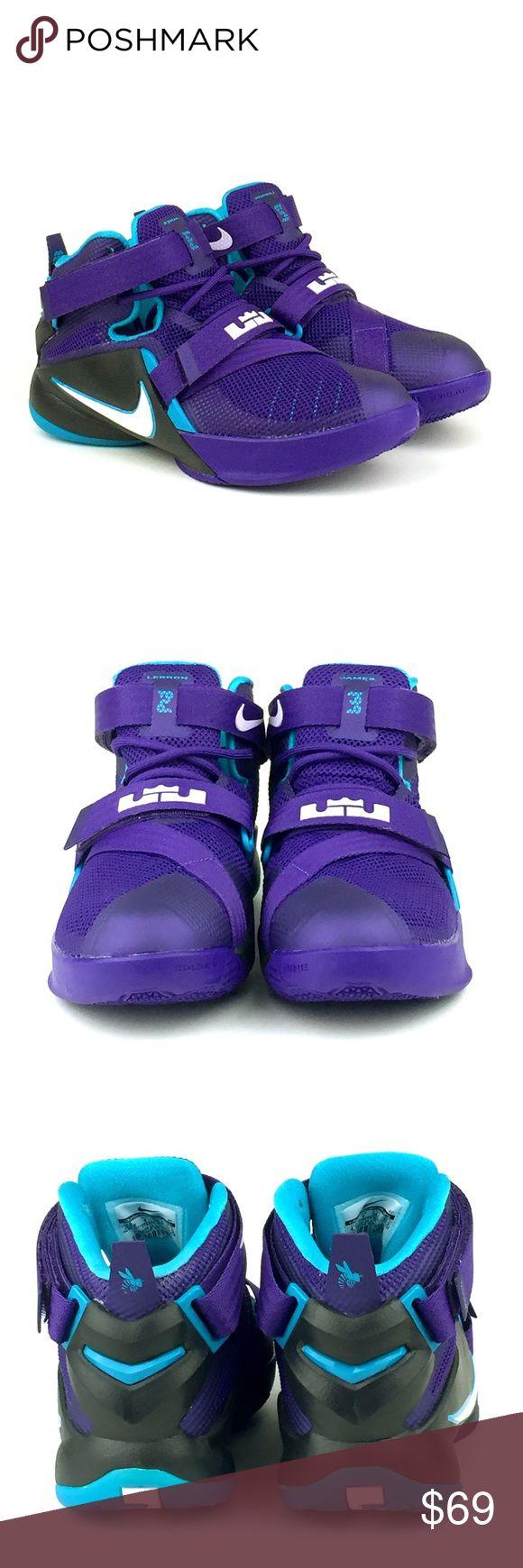 online store 82e8b 44513 ... Nike Lebron Soldier IX Basketball Sneaker NWOB Nike Lebron Soldiers IX,  Basketball Sneaker, Youth  NIKE Lebron Soldier 9 IX 776471-501 Purple Black  Blue ...