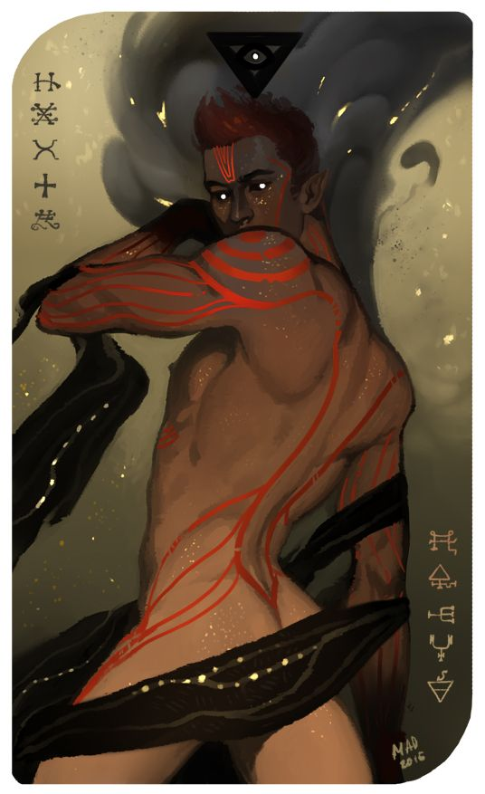 SFW version of tarot card, demon Anhuret for… anhuret! X3 Thank you very much! NSFW version in my other blog.