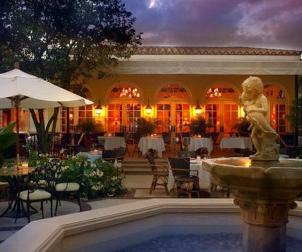 Daniel Boulud's stunning Restaurant in the Brazilian Court Hotel  Beach Club, in Palm Beach Florida.