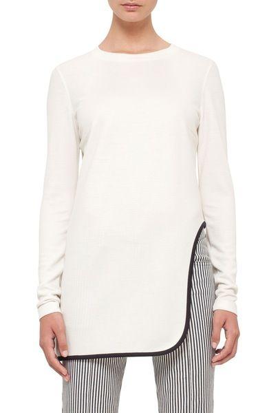Main Image - Akris punto Cutout Hem Jersey Tunic