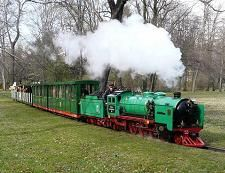 Picture with a steam engine