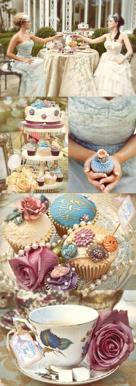 Throw a vintage bridal shower with The Cake Cuppery