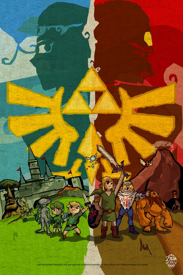 Ocarina of Time Stylized Poster by ~TheMariolee