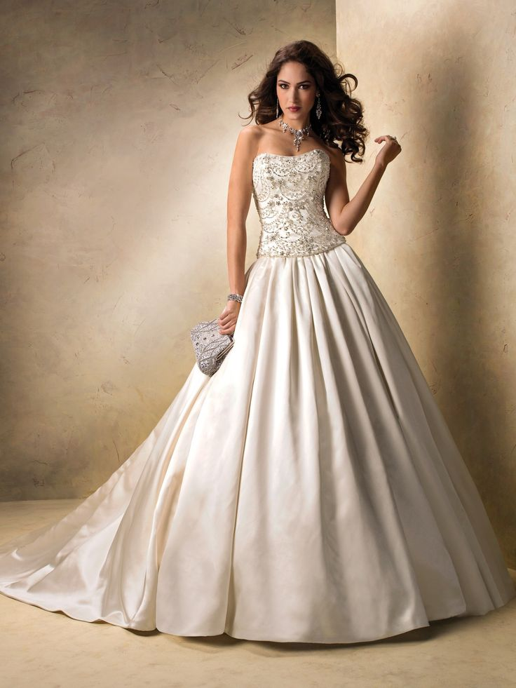 Awesome M MAGGIE SOTTERO ALABASTER SZ BEADED RHINESTONE PC Wedding Dress Gown Gowns IN STOCK u Affordable Pinterest Maggie sottero Wedding