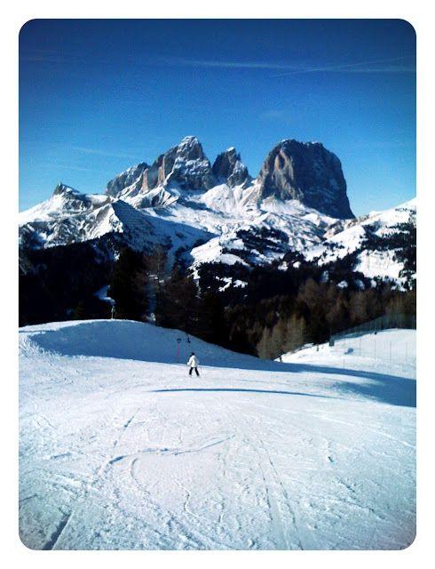 Skiing in Canazei