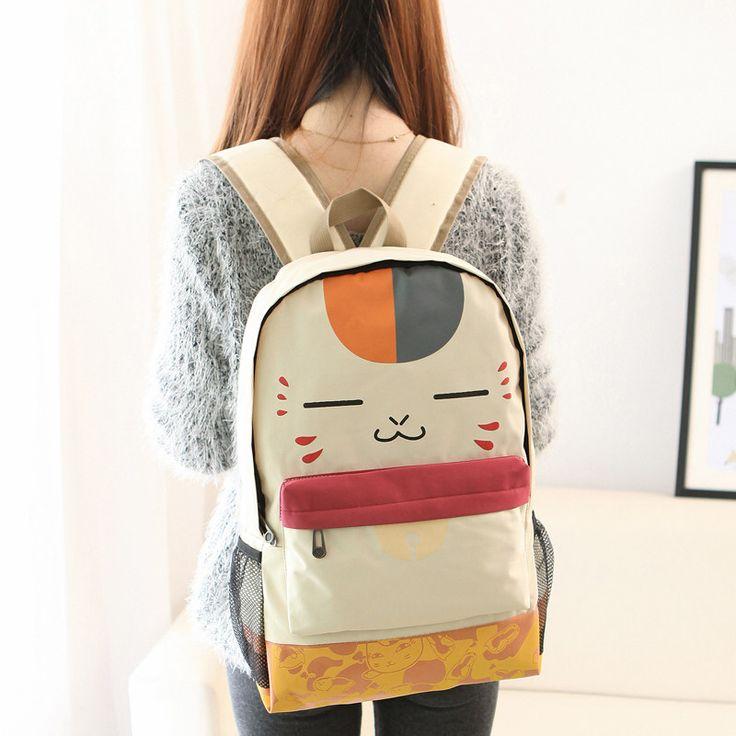 Cartoon cat backpack school bag free shipping