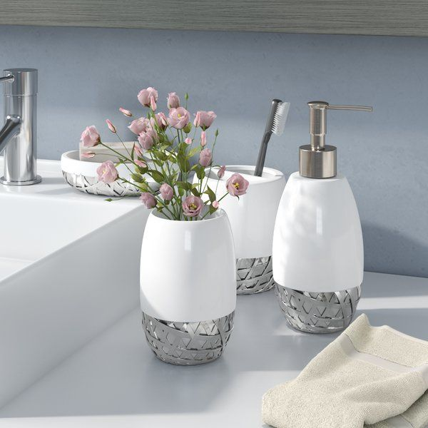 There S No Need To Hide Away Toiletries In The Medicine Cabinet Bring Contemporary Vibes Bathroom Accessory Set Bathroom Accesories Bathroom Accessories Sets
