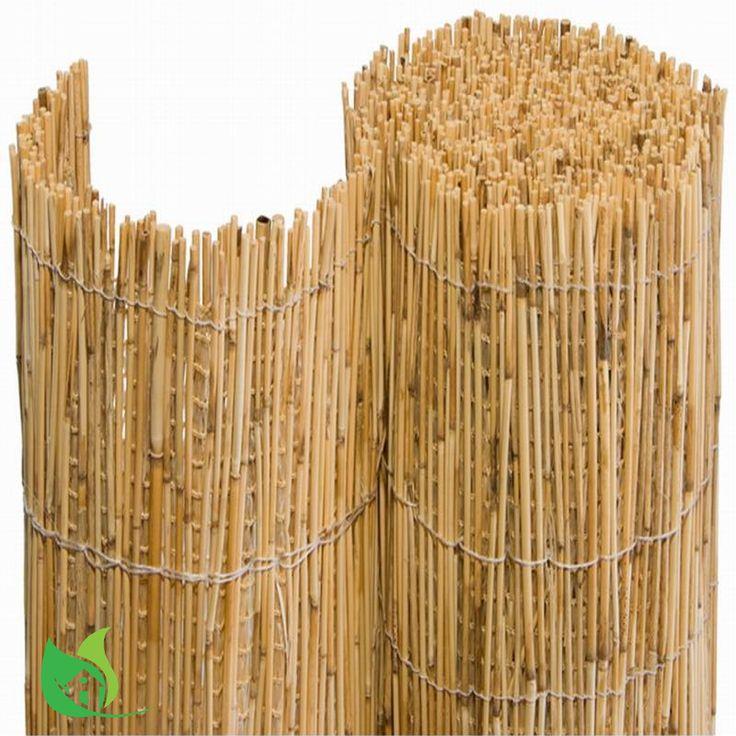 Bambusmatte Sichtschutz kombiniert mit Schattiergewebe