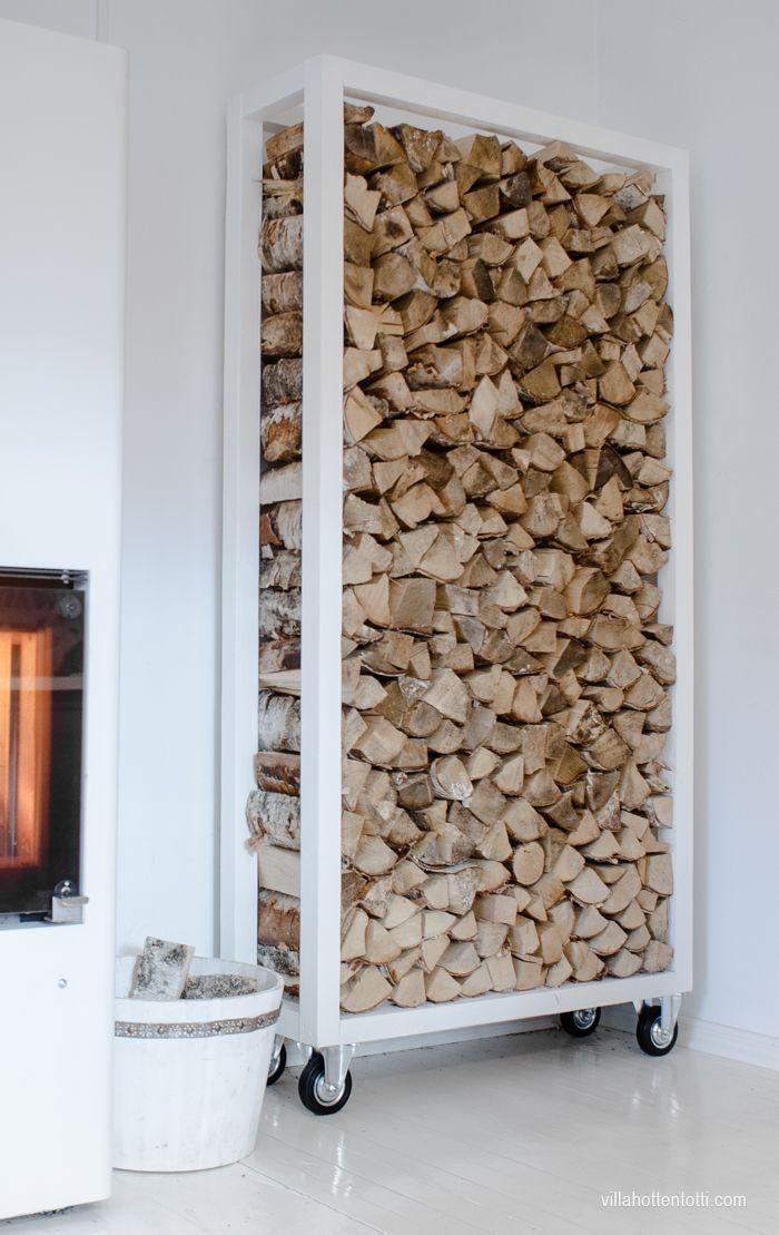 Villa Hottentotti DIY Klapiteline Holz AufbewahrungFeuerstellenKamineDiy DekoWohnzimmerWohnenHausHolzlagerBlumenbeete