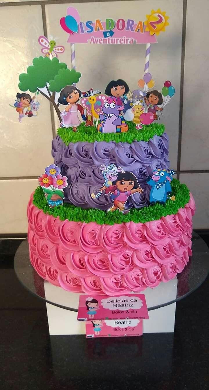 Buttercream Cake Bolos De Aniversario Decoracao De Bolo Bolos