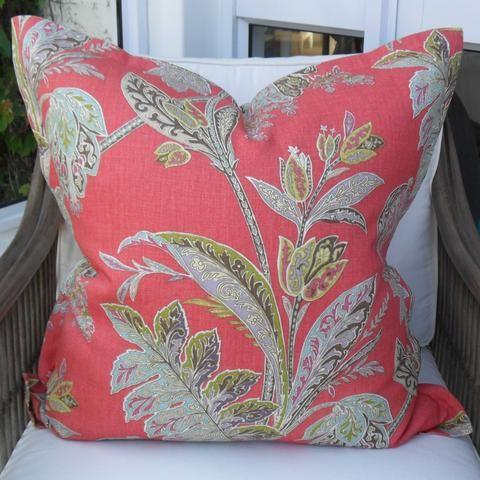 Pink/Aqua Floral Scatter Cushion