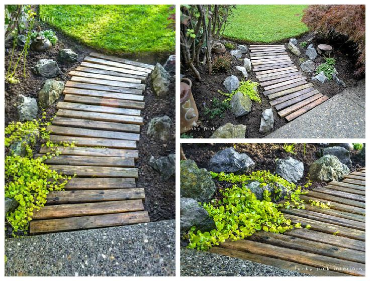 17 best ideas about pallet walkway on pinterest rustic for Quick easy landscape ideas