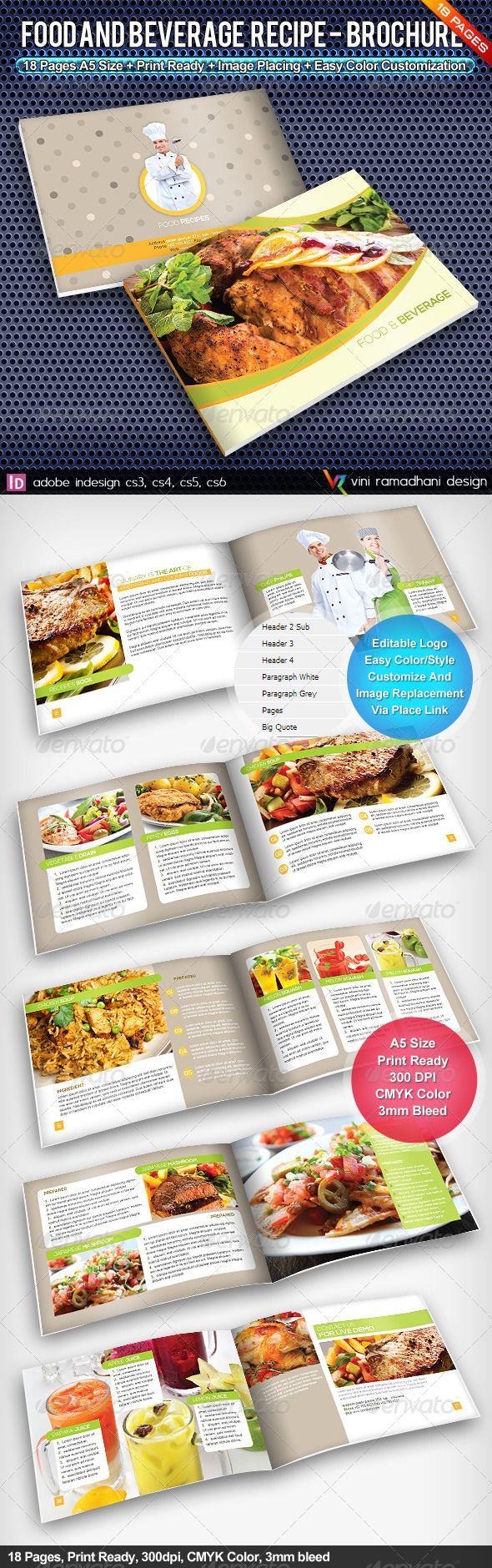 Color book in design - Food Recipe Brochure
