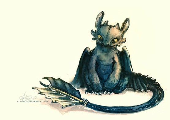 cute drawing of toothless :) #howtotrainadragon