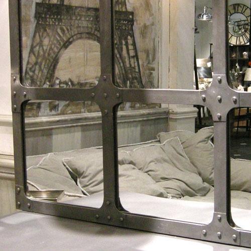 Miroir Atelier en métal géant XXL Chehoma