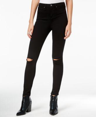 WILLIAM RAST Distressed Sculpted Black Wash Skinny Jeans | macys.com
