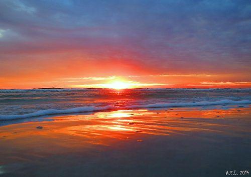 good morning, overcast day   anastasia island, florida