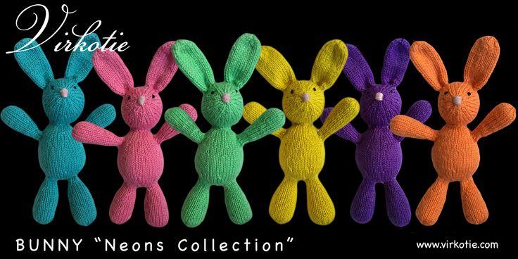 """NEW VirkotieBUNNY """"Neons Collection"""" HANDMADE IN AUSTRALIA exclusively for VirkotieBRAND @VIRKOTIE www.virkotie.com"""