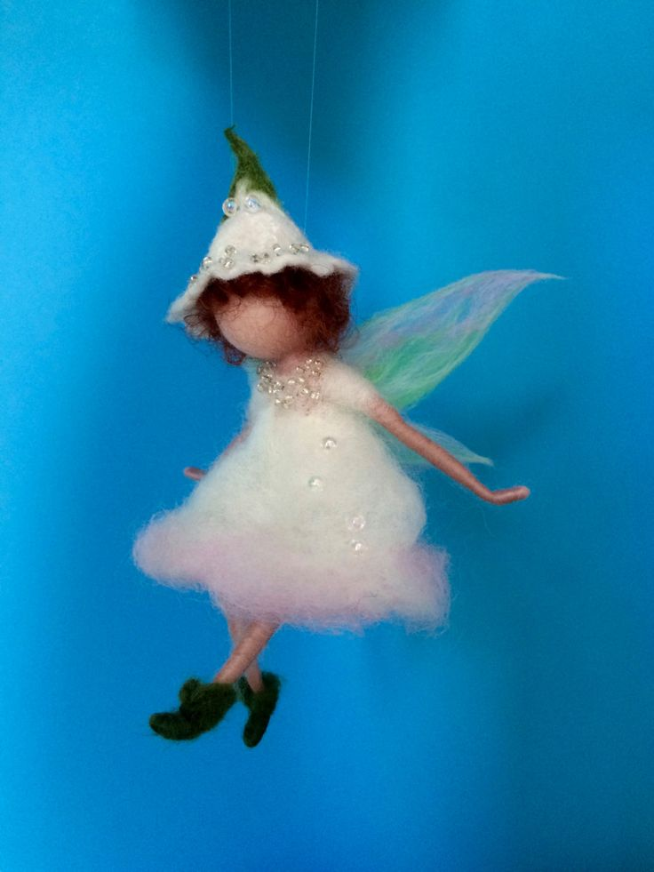 Needle felted fairy Waldorf inspired Home decor Wool Flower