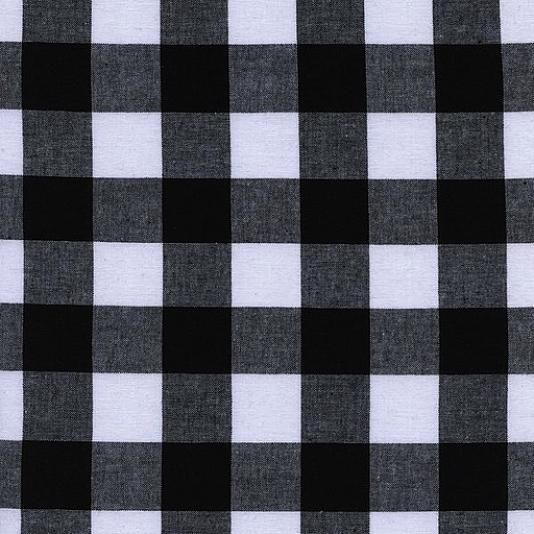 """Cotton + Steel : Checkers : Black Gingham : 1"""""""