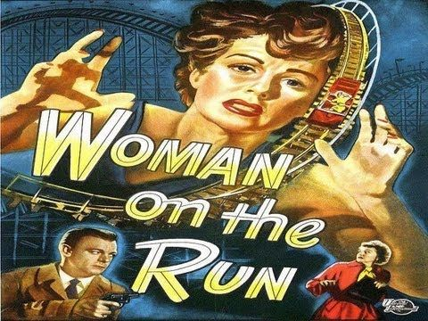 WOMAN ON THE RUN (1950) Ann Sheridan - Dennis O'Keefe - Robert Keith Published on Oct 20, 2012   As the film opens, a man, Frank Johnson (Ross Elliott), is walking his dog in the city at night. He witnesses a man in a car talking about a crime. The man then gets shot. But whoever shot that man then sees Frank and shoots at him. The shot misses, however, because it is mistakenly aimed at Frank's shadow. The killer then flees in the car.