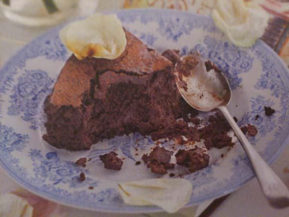 Chocolate aubergine cake in Harry Eastwood's recipe book