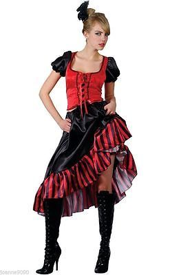LADIES SEXY SALOON GIRL WILD WEST BURLESQUE COWGIRL CAN CAN FANCY DRESS COSTUME | eBay
