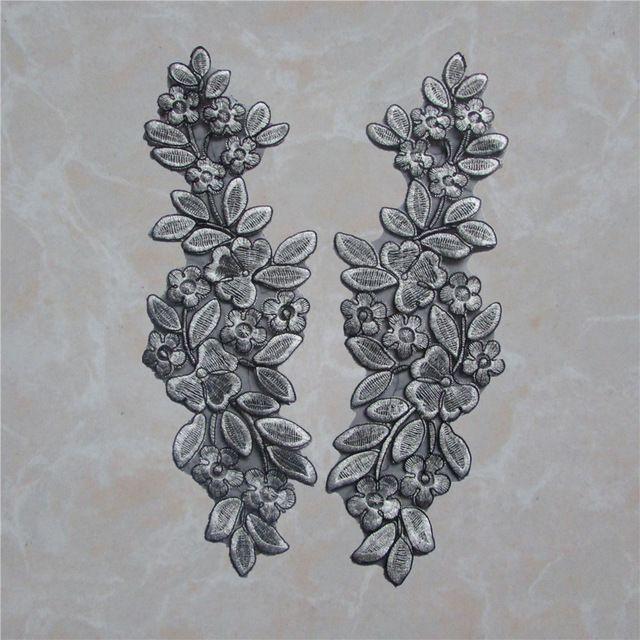 Brand new высокого качества Цветочный Кружевной Воротник Ткань DIY Мода стиль Вышивки Кружева Декольте Аппликация Швейные Ремесло YL226
