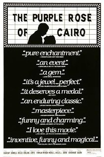 The Purple Rose of Cairo -- In 1930s New Jersey, a movie character walks off the screen and into the real world. Starring Mia Farrow and Jeff Daniels.  Love this movie.: Film, Movie Posters, Movie Character, Movies, Woody Allen, Character Walks, Favorite Movie, Purple Roses