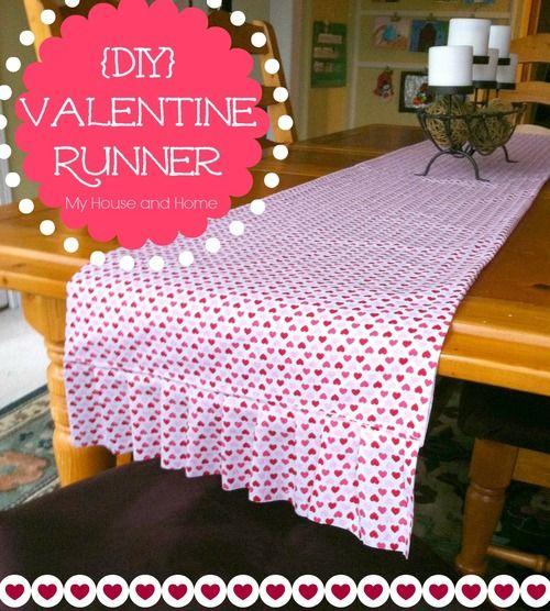 13 best valentines day images on pinterest valantine day for Diy valentine table runner