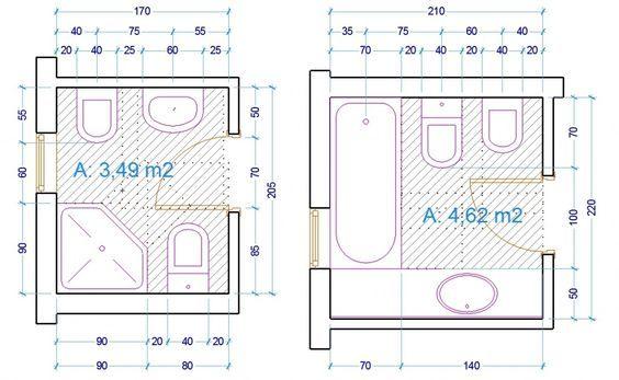 Oltre 25 fantastiche idee su piccoli bagni moderni su - Ingombro sanitari bagno ...