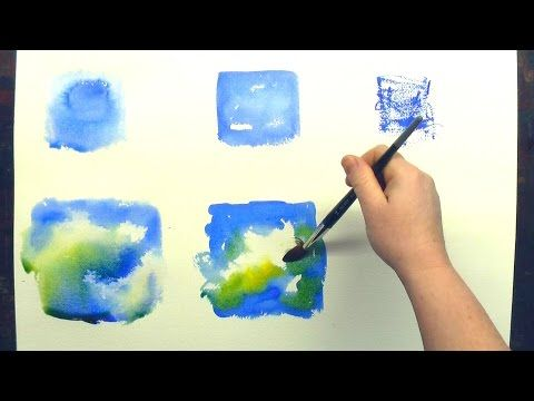 3 Beginner Watercolor Painting Washes - YouTube