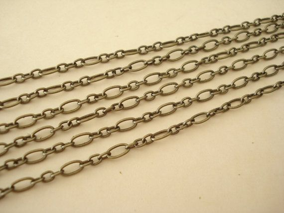 6 Feet Antiqued Bronze Metal Flat Oval Chain C33 by yooounique