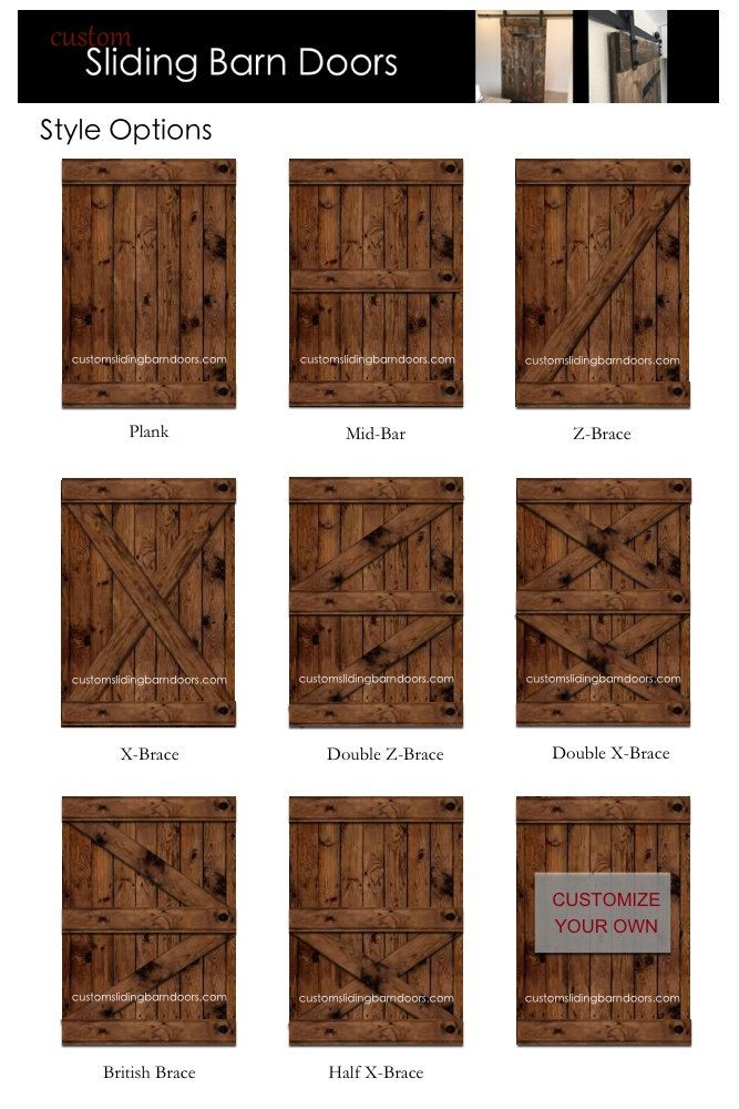 Rustic Sliding Barn Door – Custom made to fit your style