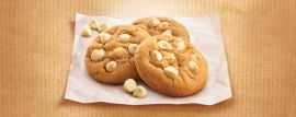 White Choc Chip Cookies: Deliciously moorish, we dare you to stop at one!. http://www.bakers-corner.co.nz/recipes/allens-recipes/white-choc-chip-cookies/