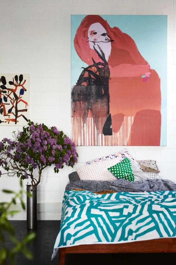 The home of artist Kirra Jamison. Styling by @mrjasongrant1 . Photography by Derek Swalwell.