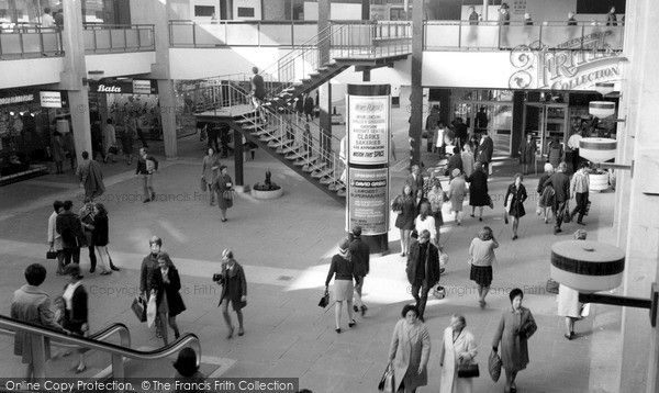 Croydon, the New (Whitgift) Shopping Centre c1970