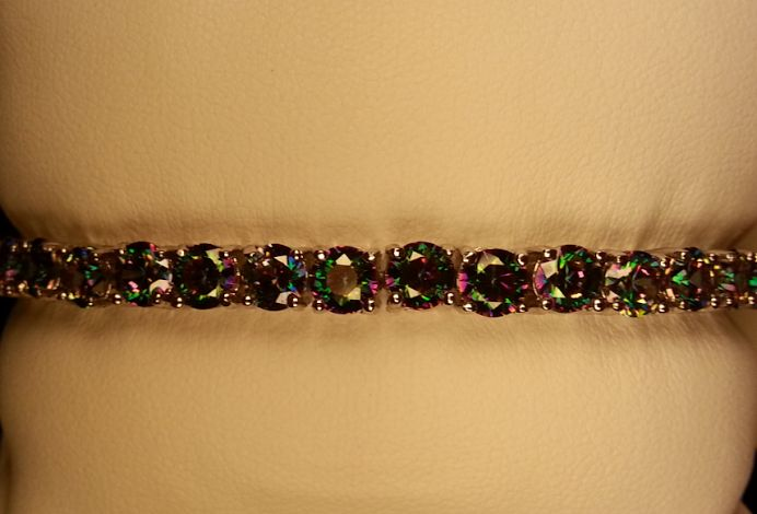 """Just in!  New Ladies Rainbow Topaz Silver Filled Tennis Bracelet Size 7 3/4""""  $25.00  Mention Pinterest For Freeshipping (A savings of $2.67)"""