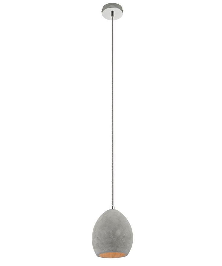 Tadao 1 Light Small Water Drop Pendant in Concrete