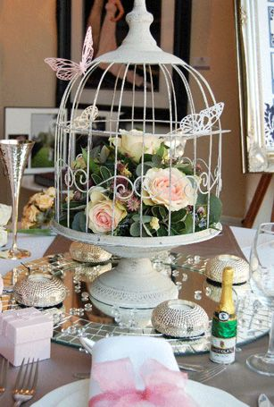 Maybe Each Table Has A Birdcage Centerpiece And Then Things From