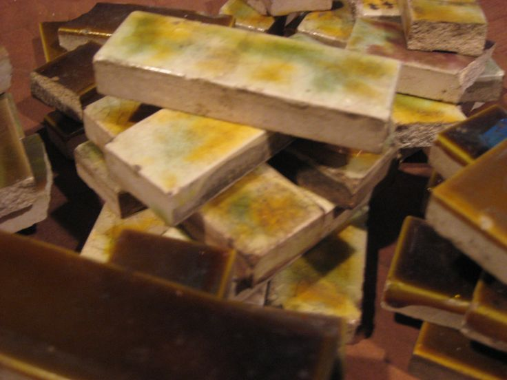 Victorian Tile Scraps/Vintage Victorian Era Tiles/Old Bridge Victorian Tiles by iLikeEclectic on Etsy