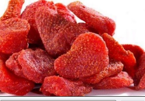 Bake strawberries for 3 hrs at 210 degrees for a healthy snack