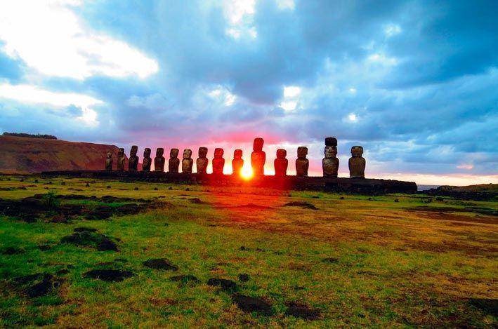 Isla de Pascua. Centro de Chile